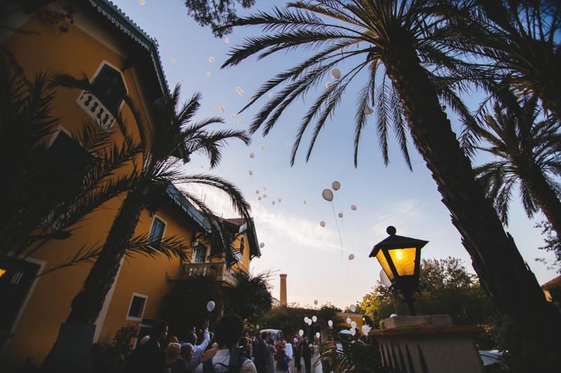 Suelta de globos en las bodas