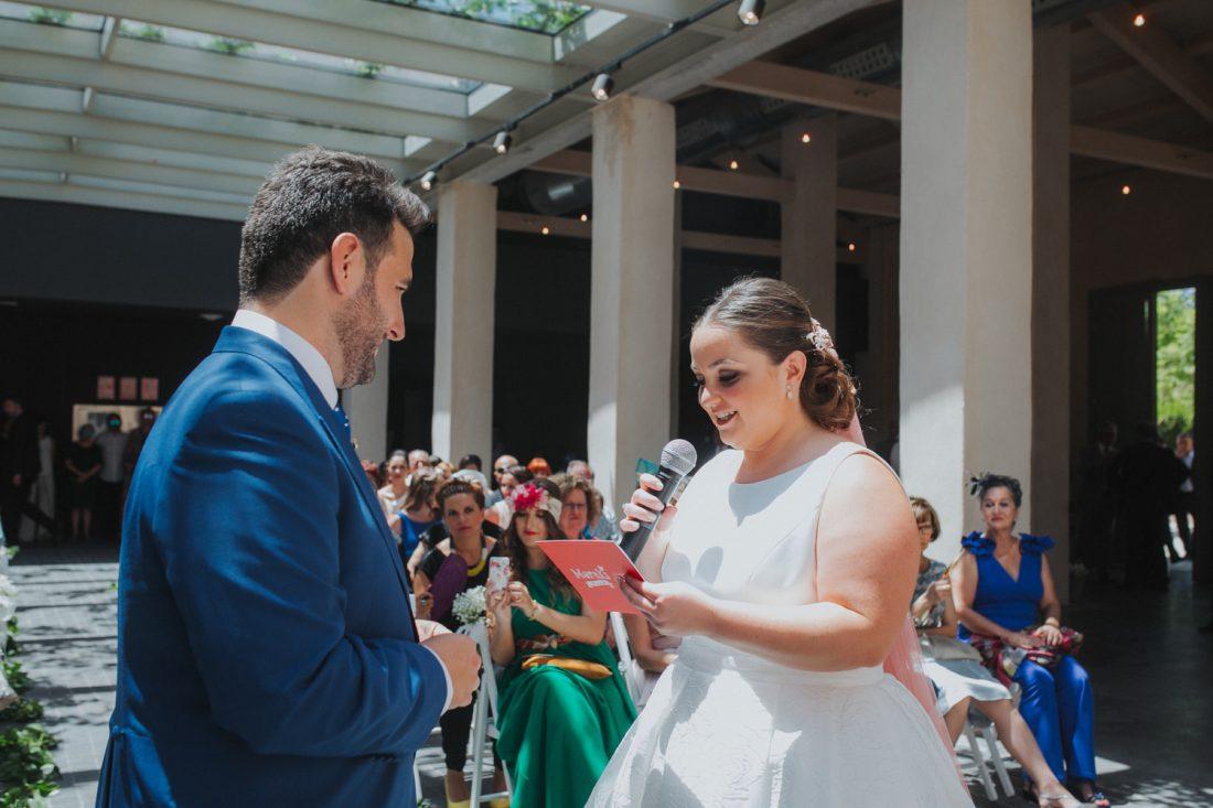 Votos en la ceremonia de boda