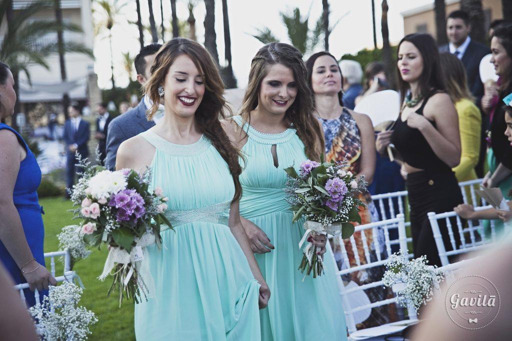 damas de honor en la boda