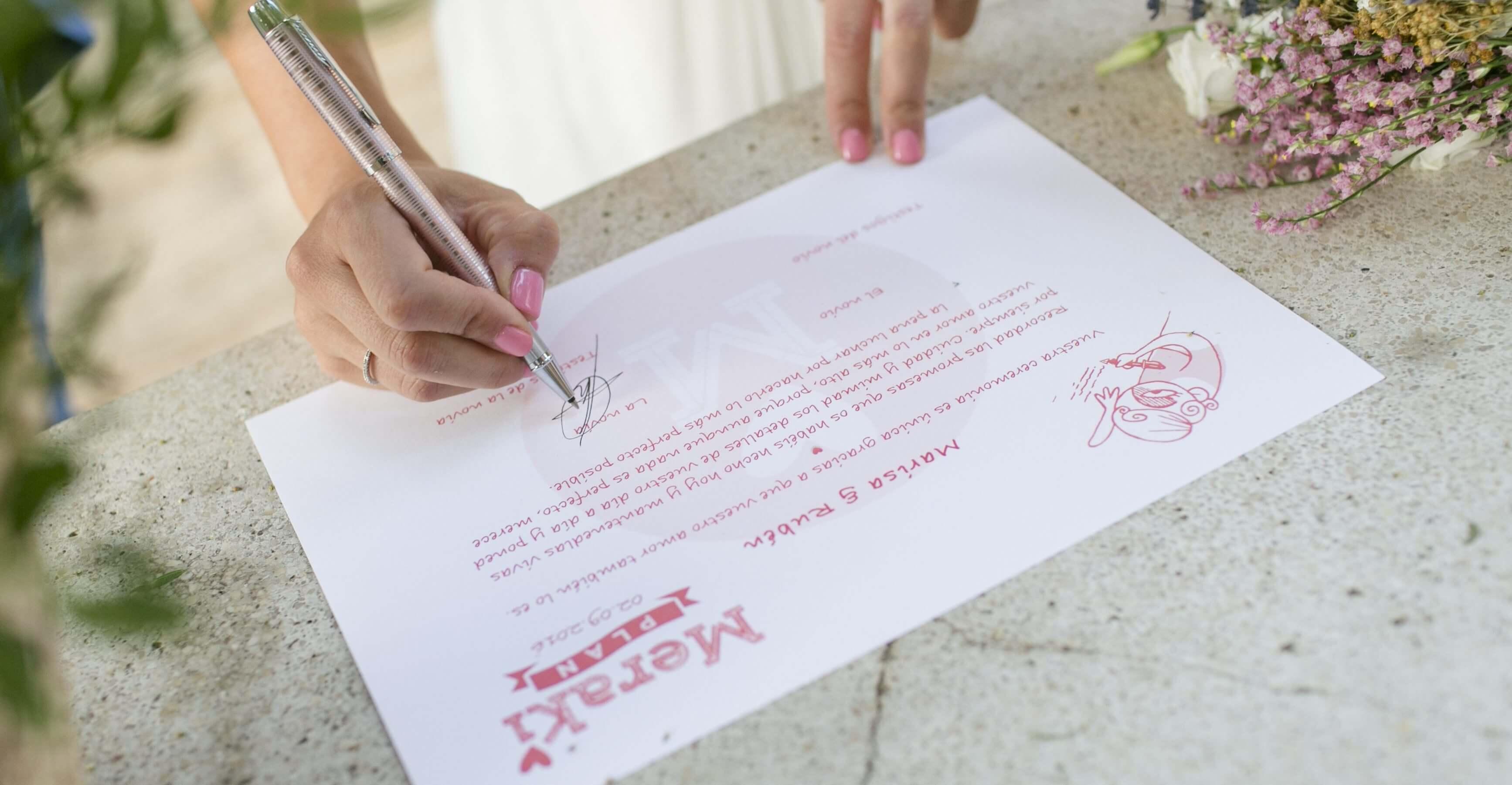 firma boda civil