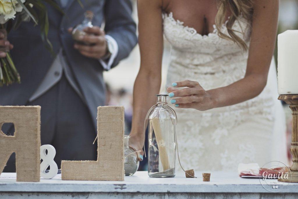 Ritual de la arena en ceremonia civil