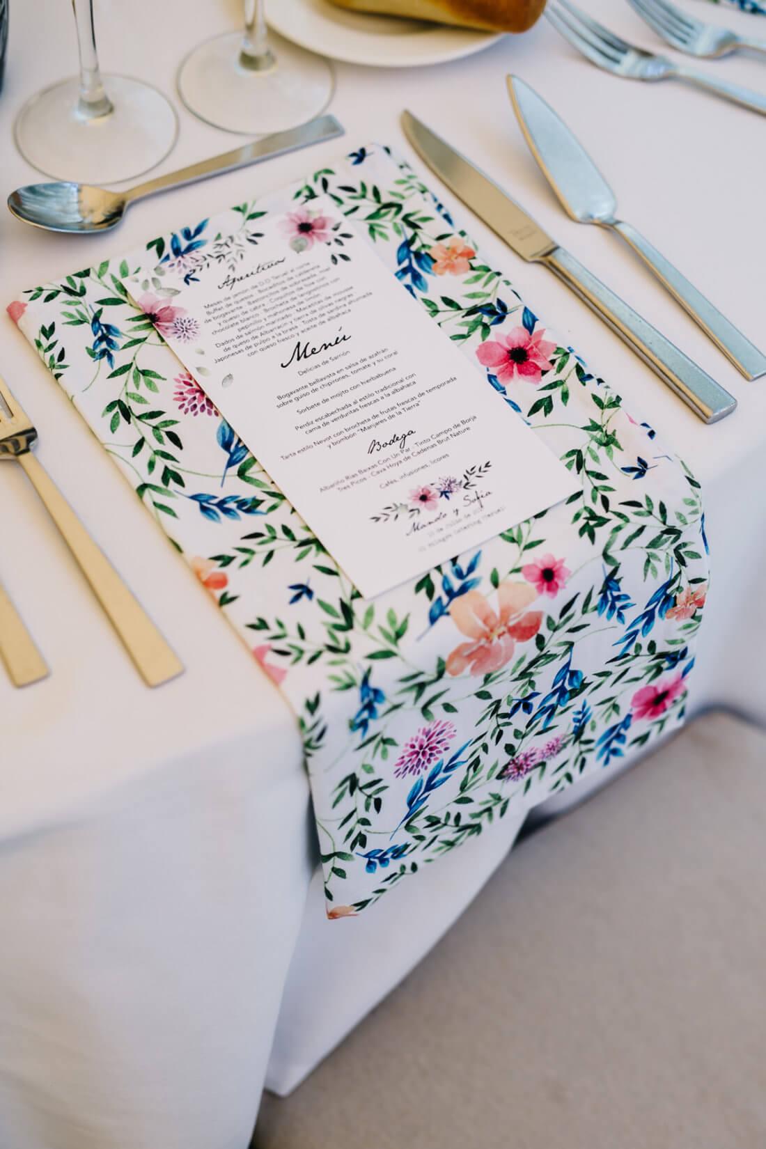 menu de boda