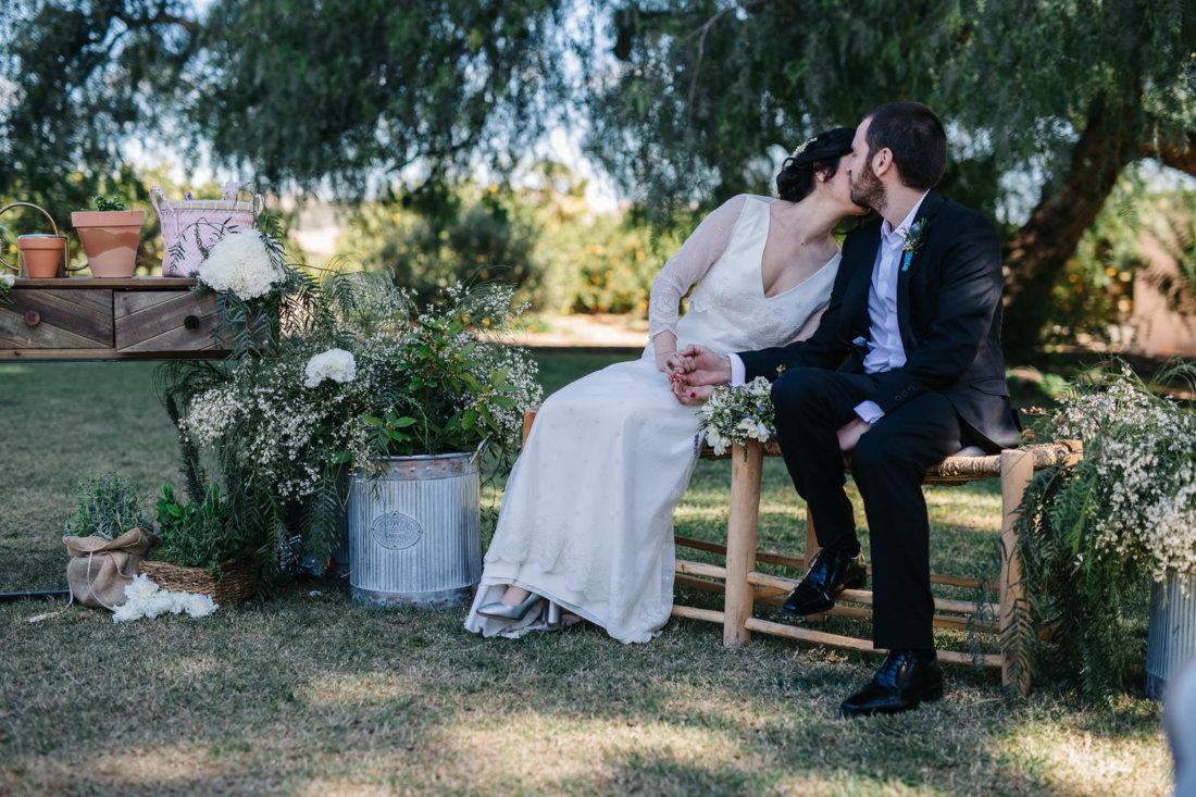 Novios en la ceremonia de boda