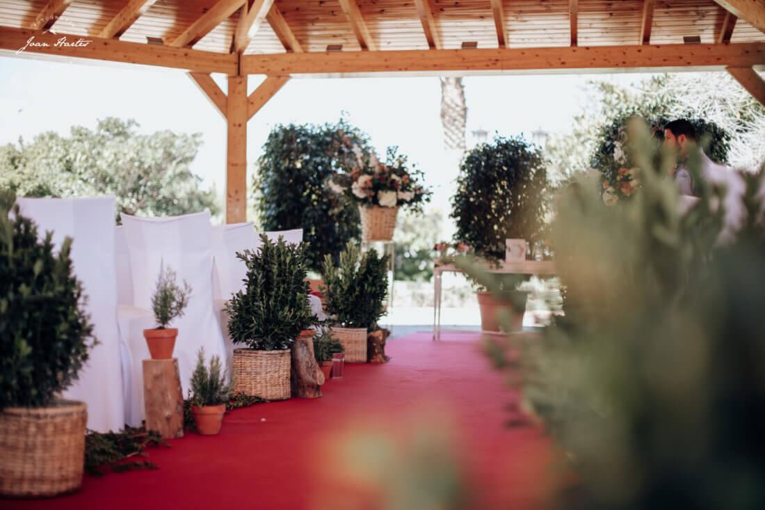 decoración de ceremonia