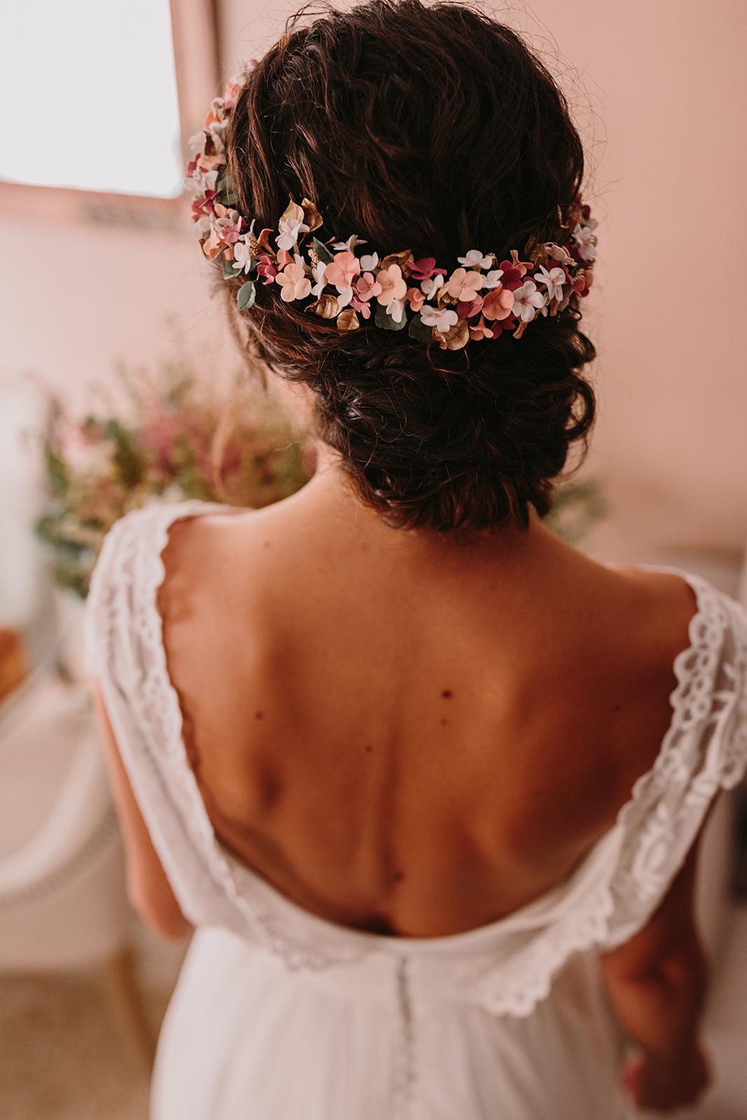 Recogido y tocado de novia