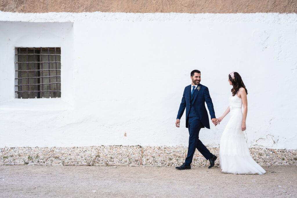 Novios en su boda