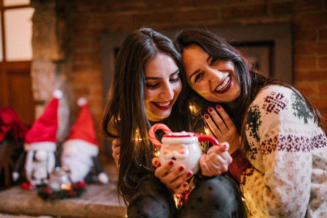 amigas navidad