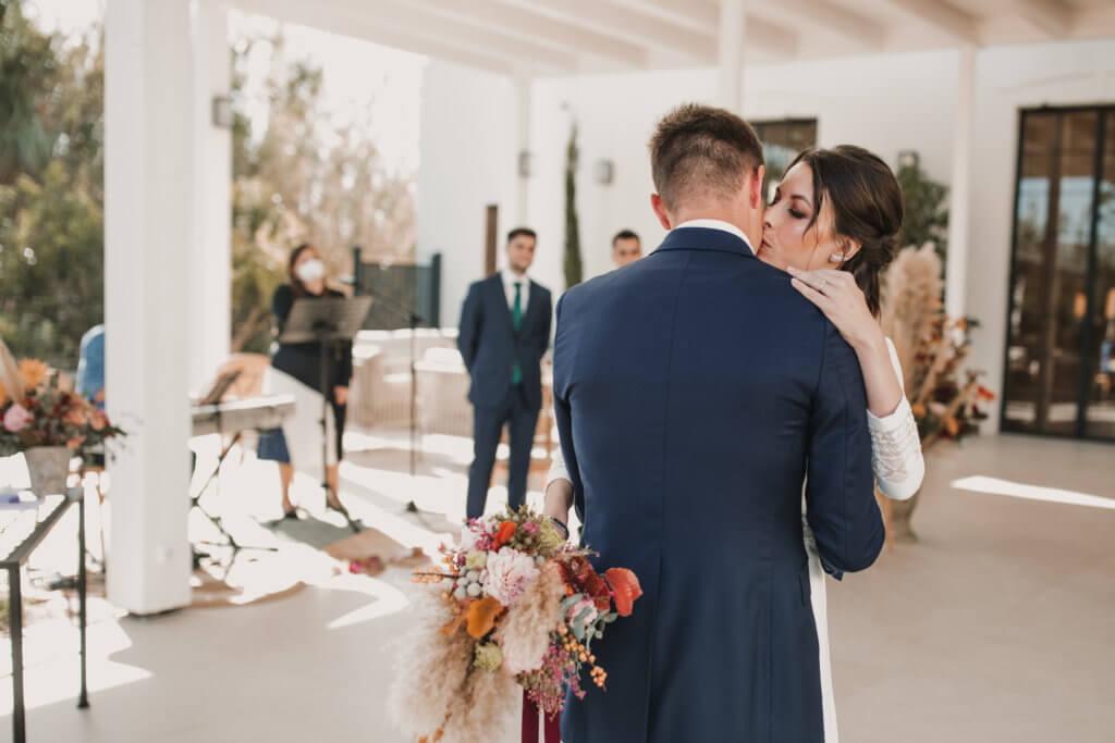 la entrada a la ceremonia
